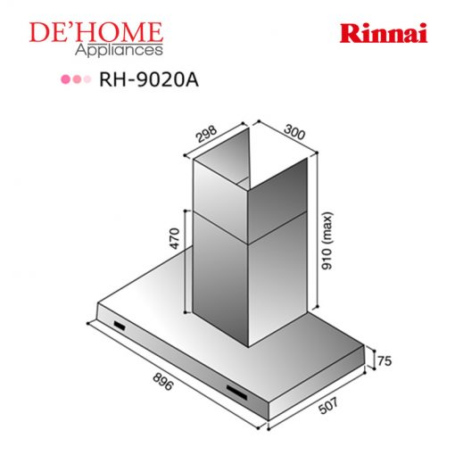 Rinnai Kitchen Chimney Range Hood RH 9020A 02