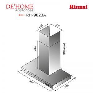 Rinnai Kitchen Chimney Range Hood RH-9023A 02