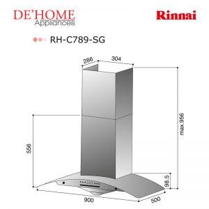 Rinnai Kitchen Chimney Range Hood RH-C789-SG 02