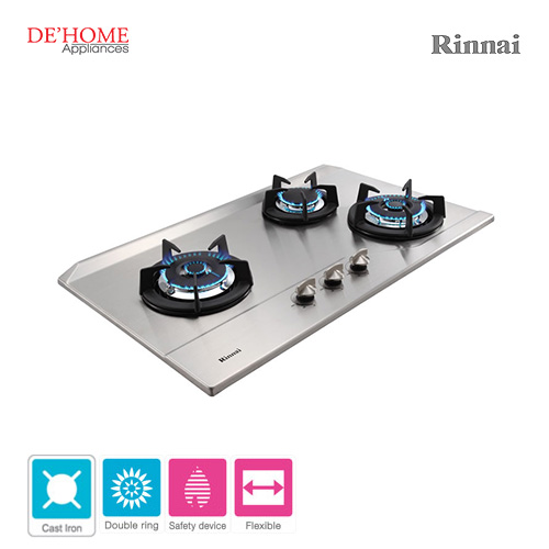 Rinnai Powerful Burner Series 3 Burner Gas Hob Stove RB-3SS-C-S 002