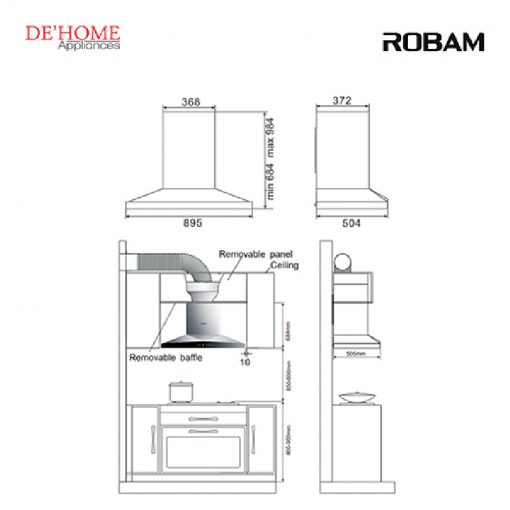 Robam Kitchen Chimney Range Hood A829 02