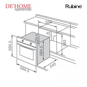 Rubine Kitchen Built-In Oven RBO-IA18-70SS 02