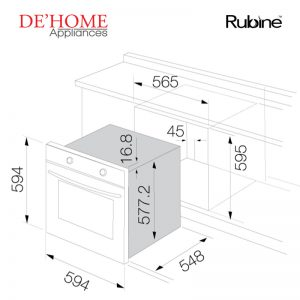 Rubine Kitchen Built-In Oven RBO-IA18X-70SS 02