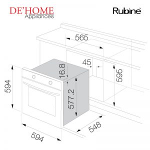 Rubine Kitchen Built-In Oven RBO-IA6X-70SS 02
