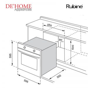 Rubine Kitchen Built-In Oven RBO-LAVA-70SS 02