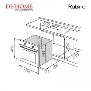 Rubine Kitchen Built-In Steam Oven RSO-IAS8-35GX 02