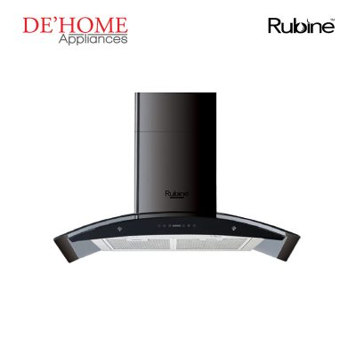 Rubine Kitchen Chimney Range Hood MCH-EBANO-90BL 01