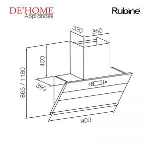 Rubine Kitchen Chimney Range Hood RCH-IA90SV-GX 02