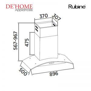 Rubine Kitchen Chimney Range Hood RCH-MARIA-SS 02