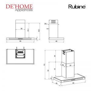 Rubine Kitchen Chimney Range Hood RCH-OLIVE-TK90 02