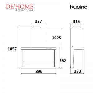 Rubine Kitchen Chimney Range Hood RCH-SIROCCO-BL 02