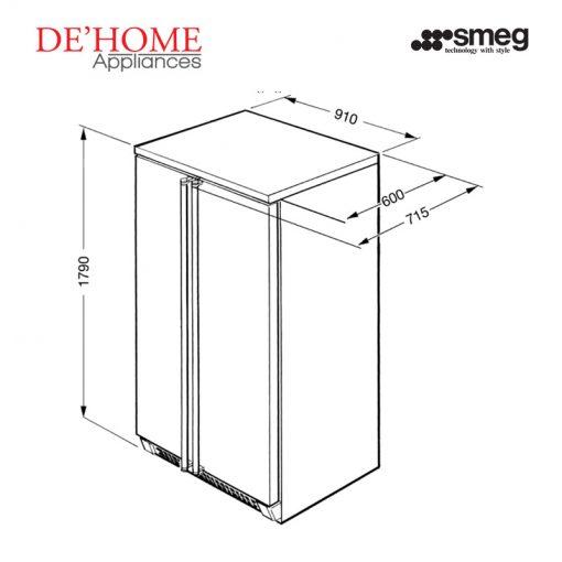 Smeg Kitchen Refrigerator Fridge FA162MX 02